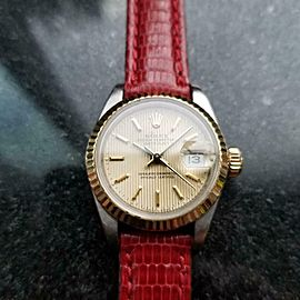 ROLEX 18k Gold & ss Ladies Oyster Datejust ref.69173, c.1989 Swiss Luxury LV975