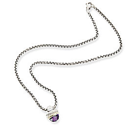 David Yurman Acorn Amethyst Necklace in Sterling Silver