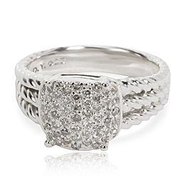 David Yurman Petite Wheaton Diamond Ring in Sterling Silver 0.37 CTW