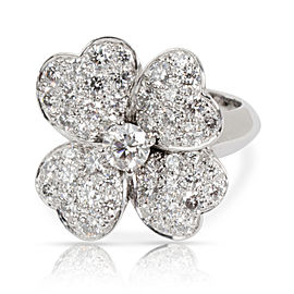 Van Cleef & Arpels Cosmos Flower Diamond Ring in 18K White Gold 1.85 CTW