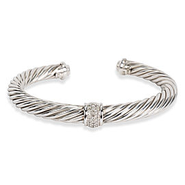 David Yurman Cable Classics Bracelet with Diamonds, 7mm 0.27 CTW