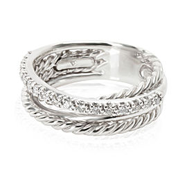 David Yurman Crossover Diamond Ring in Sterling Silver 0.17 CTW