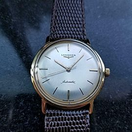 LONGINES Men's 18k Solid Gold Automatic Dress Watch, c.1969 Swiss Vintage MS123