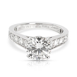 Cartier Solitaire 1895 Diamond Engagement Ring in Platinum G VS1 2.10 CTW