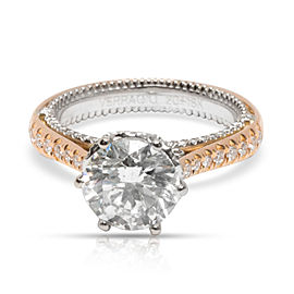 GIA Certified Verragio Diamond Engagement Ring in 2 Tone Gold (2.02 ct H/SI2)