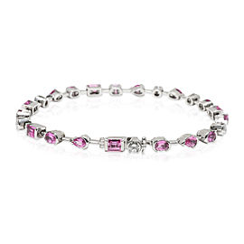 Cartier Meli Melo Pink Sapphire & Diamond Bracelet in 18K White Gold 0.6 CTW