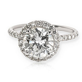 IGI Certified Diamond Halo Engagement Ring in 14K White Gold (2.00 ct L-M/VS)