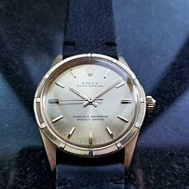 ROLEX Men's 18K Gold Oyster Perpetual 1007 Automatic, c.1967 Vintage Swiss LV934