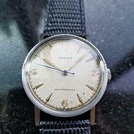 ROLEX Men's ref.3742 Manual Hand-Wind Dress Watch c.1930s Swiss Vintage MS101BLU