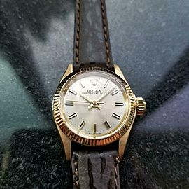ROLEX 18K Gold Ladies Oyster Perpetual ref.6619 Automatic, c.1967 Swiss MS147BRN