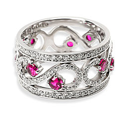 Tiffany & Co. Enchant Diamond & Ruby Ring in 18K White Gold