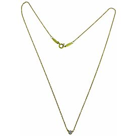 Tiffany Elsa Peretti .08 carat Diamond by the yard solitaire 18k necklace