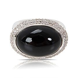 David Yurman Signature Black Onyx & Diamond Ring in Sterling Silver