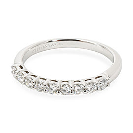 Tiffany & Co. 9 Stone Embrace Diamond Wedding Band in Platinum 0.27 CTW