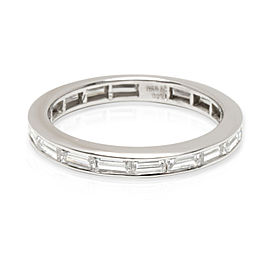 Tiffany & Co. Baguette Diamond Eternity Wedding Ring in Platinum 1.10 CTW