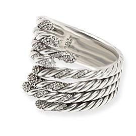 David Yurman Diamond Willow Ring in Sterling Silver (0.33 CTW)