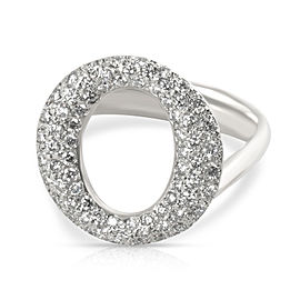 Tiffany & Co. Elsa Peretti Sevillana Diamond Ring in Platinum 0.8 CTW