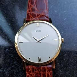 Men's Piaget 18k Solid Gold cal.9P Manual-Wind Luxury Dress Watch, c.1970s LV641