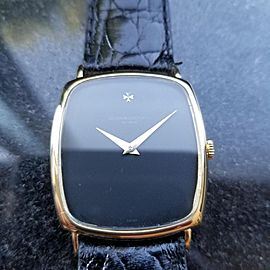 Men's Vacheron Constantin 18k Gold Geneve Manual-Wind c.1970s Swiss Luxury LV716