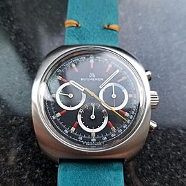 Men's Bucherer Vintage ref.9652 Manual-Wind Chronograph, c.1970s Swiss MA142BLU