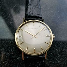 Men's Girard Perregaux Gold-Capped Manual Hand-Wind Dress Watch c.1960s MS212BLK
