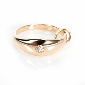 Engagement Ring Charm with Old Miners Diamond in 14K Yellow Gold H SI1 0.05 CTW