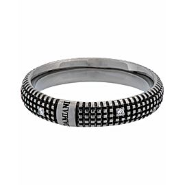 Damiani Metropolitan dream 9 diamond 5mm band ring in 18k black gold size 10.5