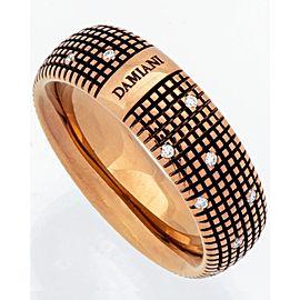 Damiani Metropolitan dream diamond 8mm band ring 18k brown gold size 10