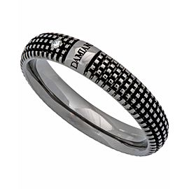 Damiani Metropolitan dream 1 diamond 5mm band ring in 18k black gold size 10.25