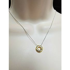 TIFFANY & CO diamond Etoile necklace in platinum & 18k yellow gold
