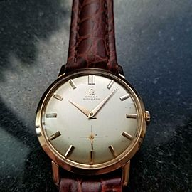 Men's Omega 18k Rose Gold ref.2897-3 Automatic Dress Watch, c.1960s Swiss LV636