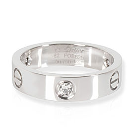 Cartier Love Diamond Band in 18K White Gold 0.22 CTW