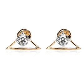 Triangular Outline Diamond Studs in 18K Yellow Gold E-F VS 0.80 CTW