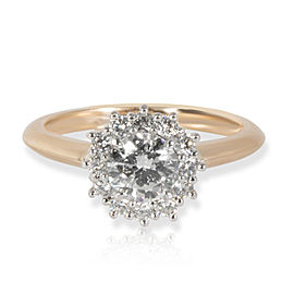 GIA Certified Diamond Engagement Ring in 18K Yellow Gold G VVS1 0.75 CTW