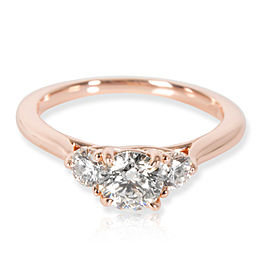 IGI James Allen 3 Stone Diamond Engagement Ring in 14K Rose Gold H VS2 0.83 CTW