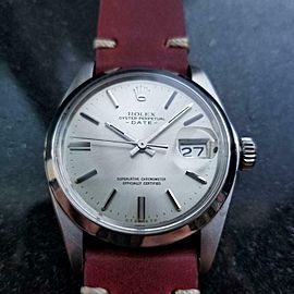 Men's Rolex 1500 Oyster Perpetual Date Automatic, c.1973 Swiss Vintage LV472RED