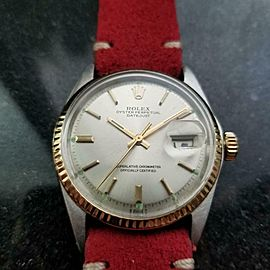 Men's Rolex 18k & ss Oyster Datejust ref.1601 Automatic c.1972 Vintage LV927RED