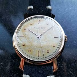 Men's IWC Schaffhausen 18K Rose Gold Manual Wind, c.1960s Swiss Vintage LV898