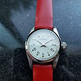 Ladies Rolex Oyster Perpetual ref.67180 Automatic, c.1984 Swiss Luxury LV906RED