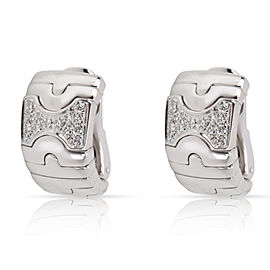 Bulgari Parentesi Diamond Earrings in 18K White Gold 0.5 CTW
