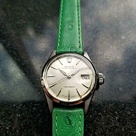 Ladies Rolex Oyster Perpetual 6516 LadyDate Automatic 1961 Swiss Luxury MS155GRN