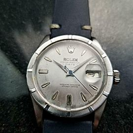 Men's Rolex Oyster Perpetual Date 1501 Automatic c.1960s Swiss Vintage LV982BLU
