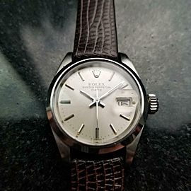 Ladies Rolex Oyster Perpetual Date 6916 Automatic, c.1973 Swiss Luxury LV842BRN