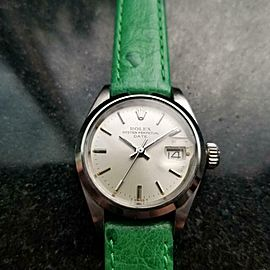 Ladies Rolex 6916 Oyster Perpetual Date Automatic, c.1970s Swiss Luxury LV842GRN
