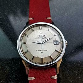 Men's Omega Constellation 168.005 Date Automatic, c.1960s Swiss Vintage LV353RED