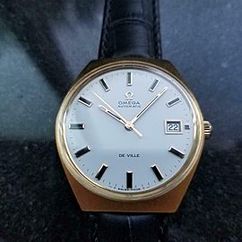 Men's Omega Gold-Capped DeVille Automatic w/Date, c.1970s Swiss Vintage AL16
