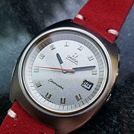Men's Omega Seamaster cal.1002 Automatic w/Date, c.1970s Swiss Vintage LV352RED