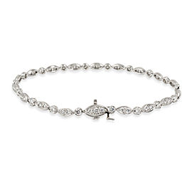 Tiffany & Co. Diamond Jazz Bracelet in Platinum 1.60 CTW