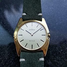 Men's Omega Gold-Capped DeVille cal.620 Manual-Wind c.1970 Swiss Vintage AL24GRN