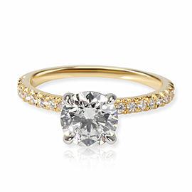James Allen Diamond Engagement Ring in 18K Yellow Gold GIA F VVS2 1.24 CTW